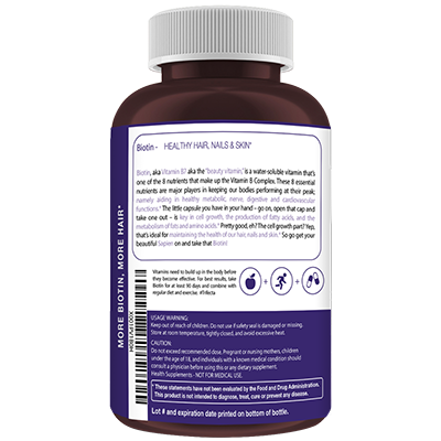 Biotin is vitamin B7 which is 1 of the 8 essential B vitamins