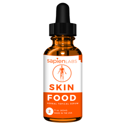 Skinfood is a vitamin c and herbal serum that is applied to the face and neck to improve skin health