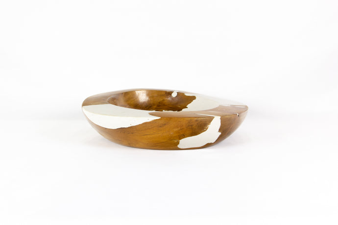 HANNA LARGE color splash wood bowl