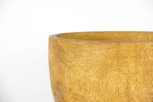 NAWA large natural finish teak bowl