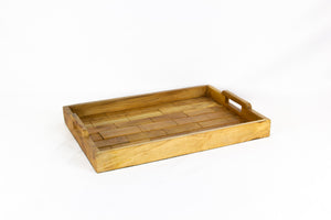 RATA rectangle teak tray