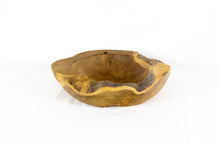 Load image into Gallery viewer, TRI natural raw edge teak bowl