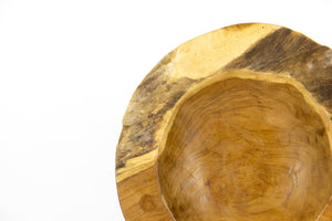 TRI natural raw edge teak bowl