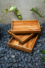 Load image into Gallery viewer, RATA rectangle teak tray
