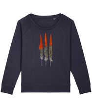 Load image into Gallery viewer, Red feathers boxy sweatshirt