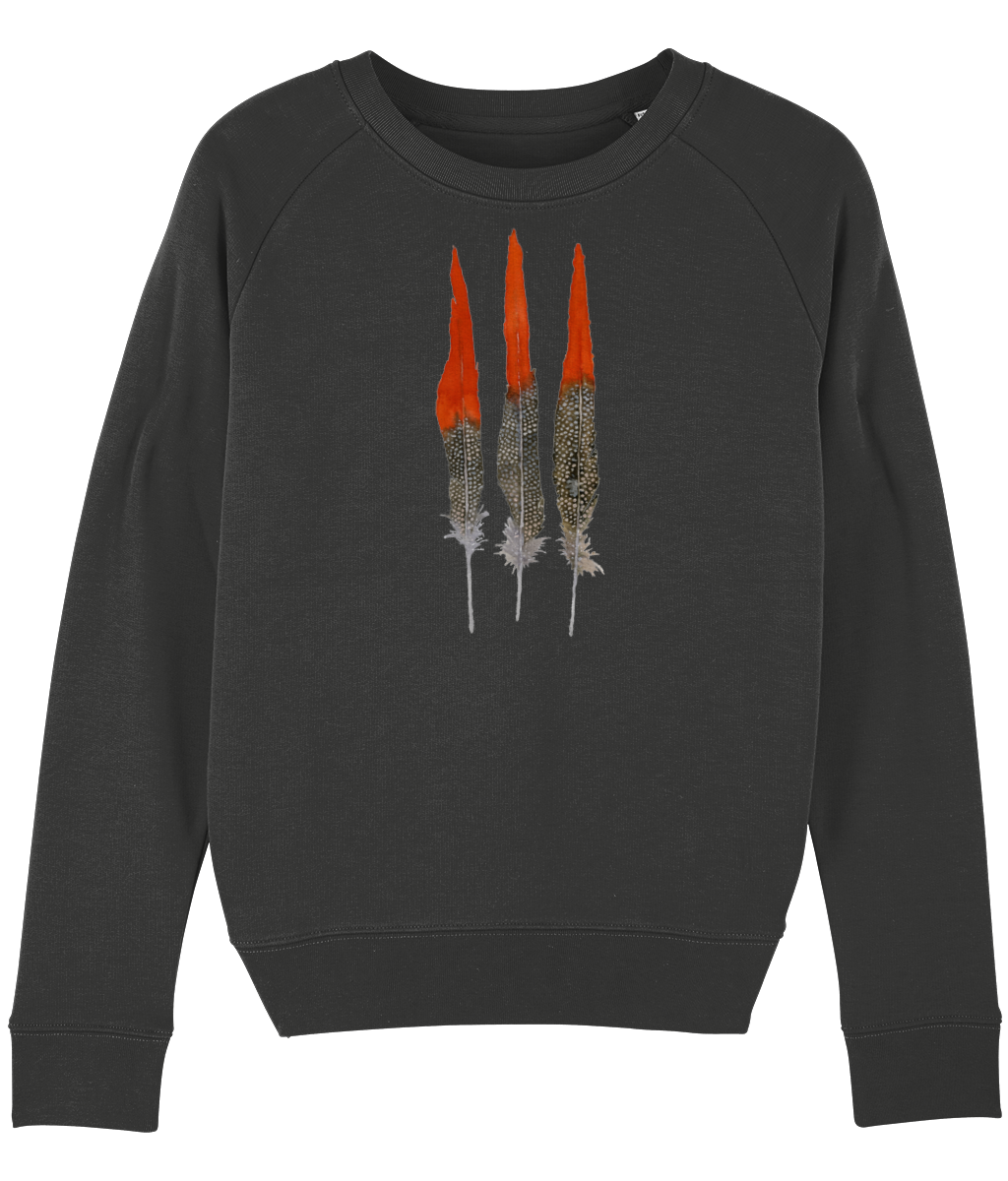Red feathers sweatshirt