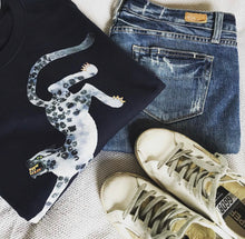 Load image into Gallery viewer, Snow Leopard loose fit tee