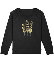 Load image into Gallery viewer, Owl feathers boxy sweatshirt