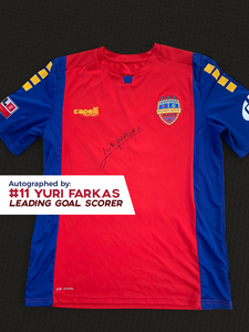 Yuri Farkas Autographed, Game Worn, Authentic 2019 USL Flint City Bucks Red Jersey - League Two National Championship Season