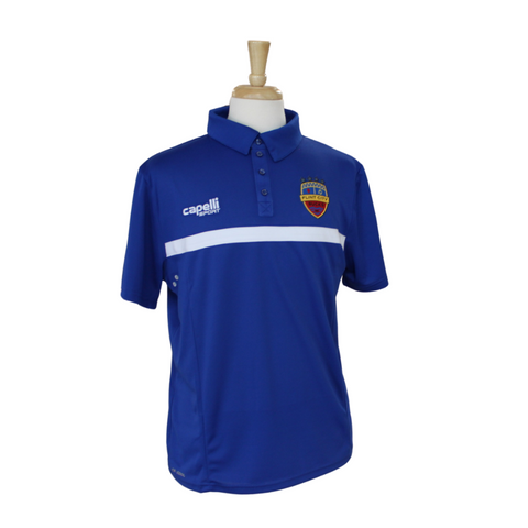FCB 4 Star Blue Polo
