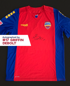 Griffin Debolt Autographed, Game Worn, Authentic 2019 USL Flint City Bucks Red Jersey - League Two National Championship Season