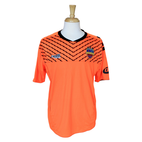 Neon Orange Short Sleeve Three Star Match Worn Keeper Jersey
