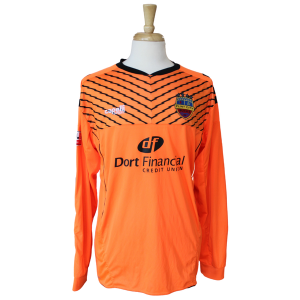 Neon Orange Long Sleeve 2020 Four Star Match Worn Keeper Jersey
