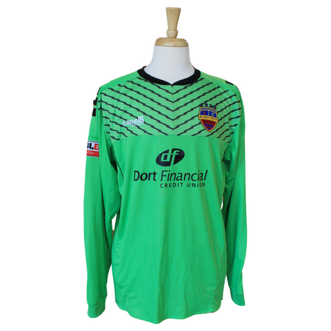 Neon Green Long Sleeve 2020 Four Star Match Worn Keeper Jersey