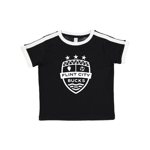 FCB Crest Black/White Toddler Soccer Tee
