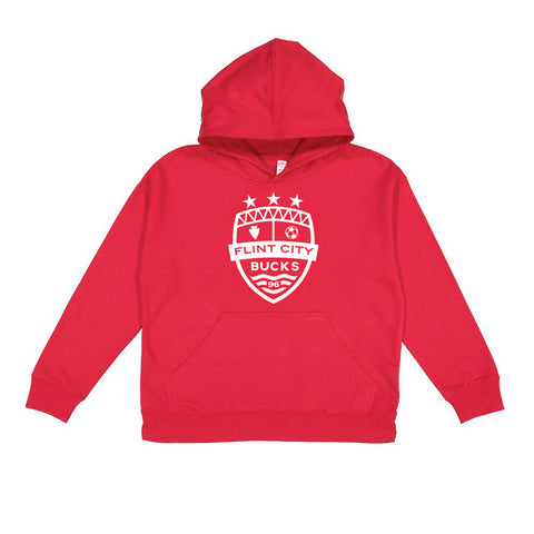 FCB Crest Red Youth Hoodie