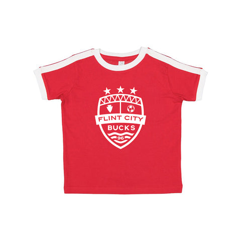 FCB Crest Red/White Toddler Soccer Tee