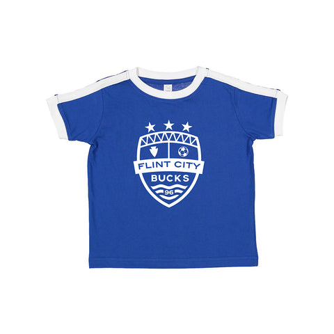 FCB Crest Royal/White Toddler Soccer Tee