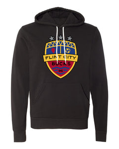 FCB Crest Full Color Unisex Black Hooded Pullover