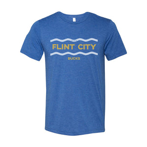 Flint River Unisex Royal Triblend Tee