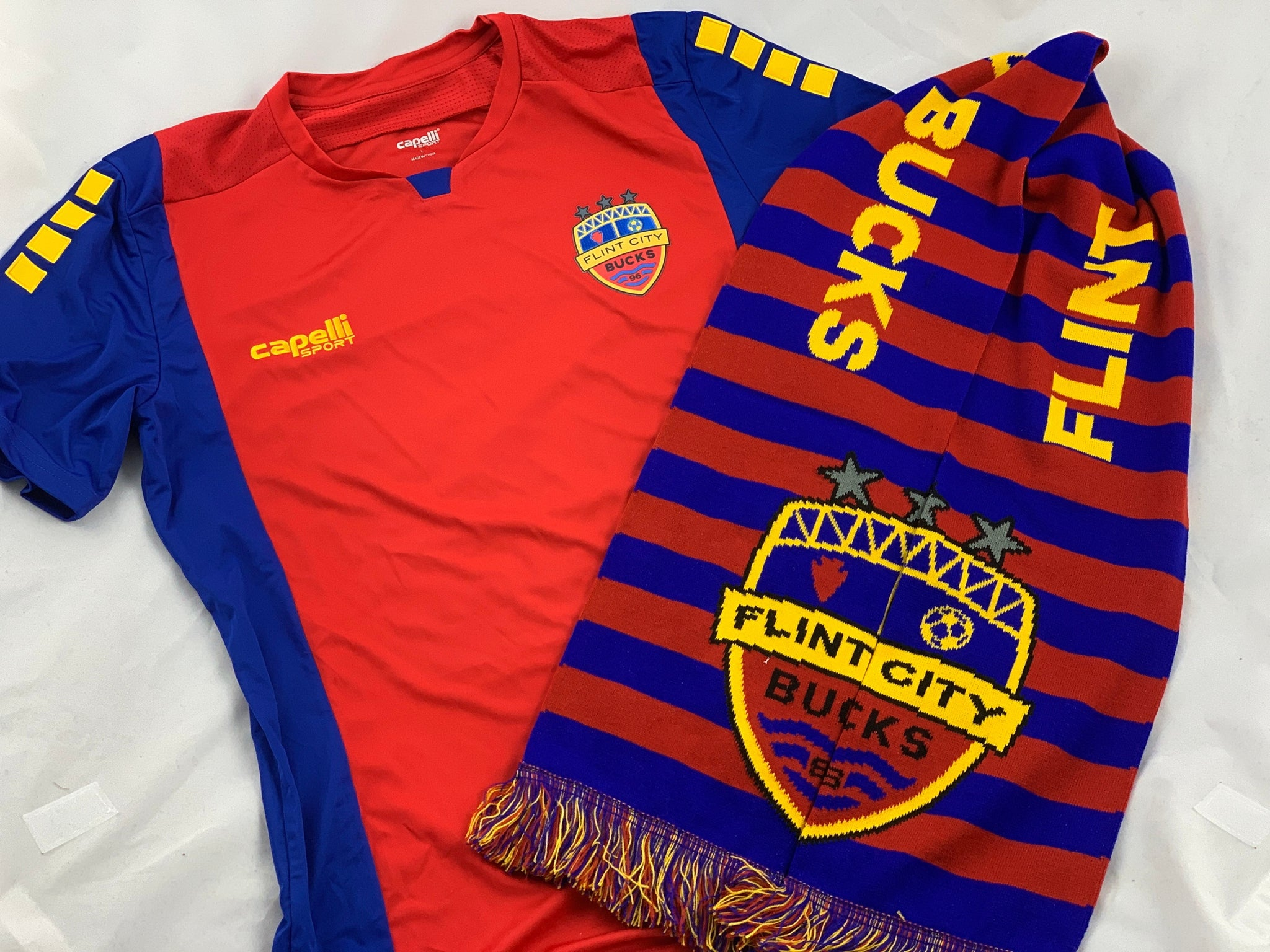 Official FCB Jersey Split Scarf Holiday Bundle