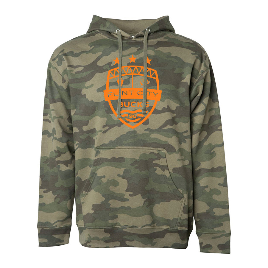 FCB Large Crest Unisex Camo Hooded Pullover