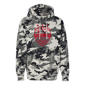 FCB Large Crest Mens Snow Camo Hooded Pullover