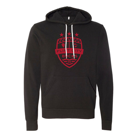 FCB Large Crest Unisex Black Hooded Pullover