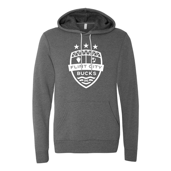 FCB Large Crest Unisex Deep Heather Hooded Pullover