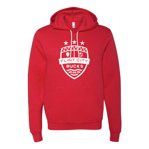 FCB Large Crest Unisex Red Hooded Pullover