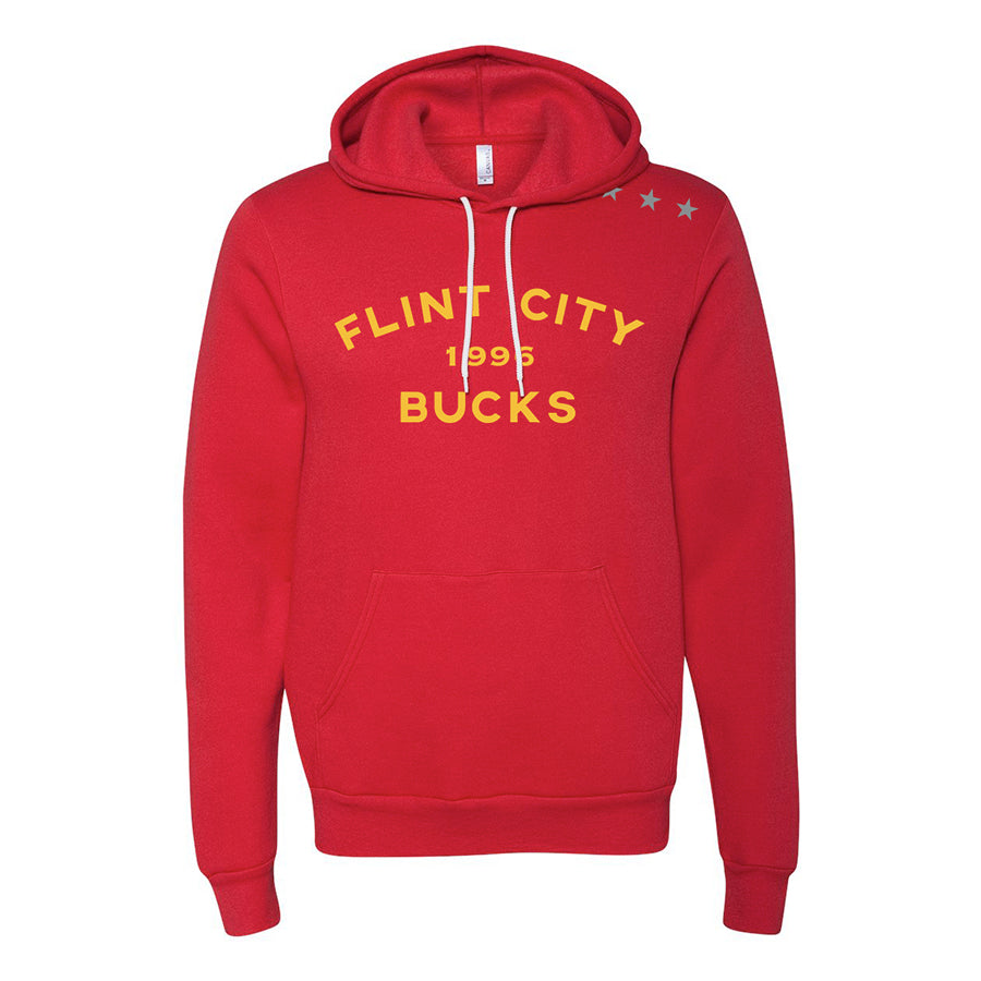 Bucks Stars Unisex Red Hooded Pullover