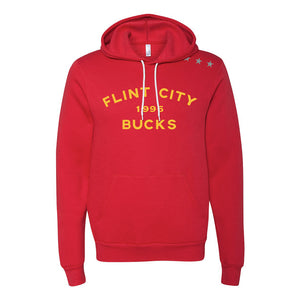 Bucks Unisex Red Hooded Pullover