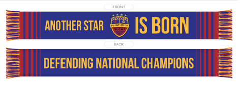 Another Star is Born Scarf Flint City Bucks