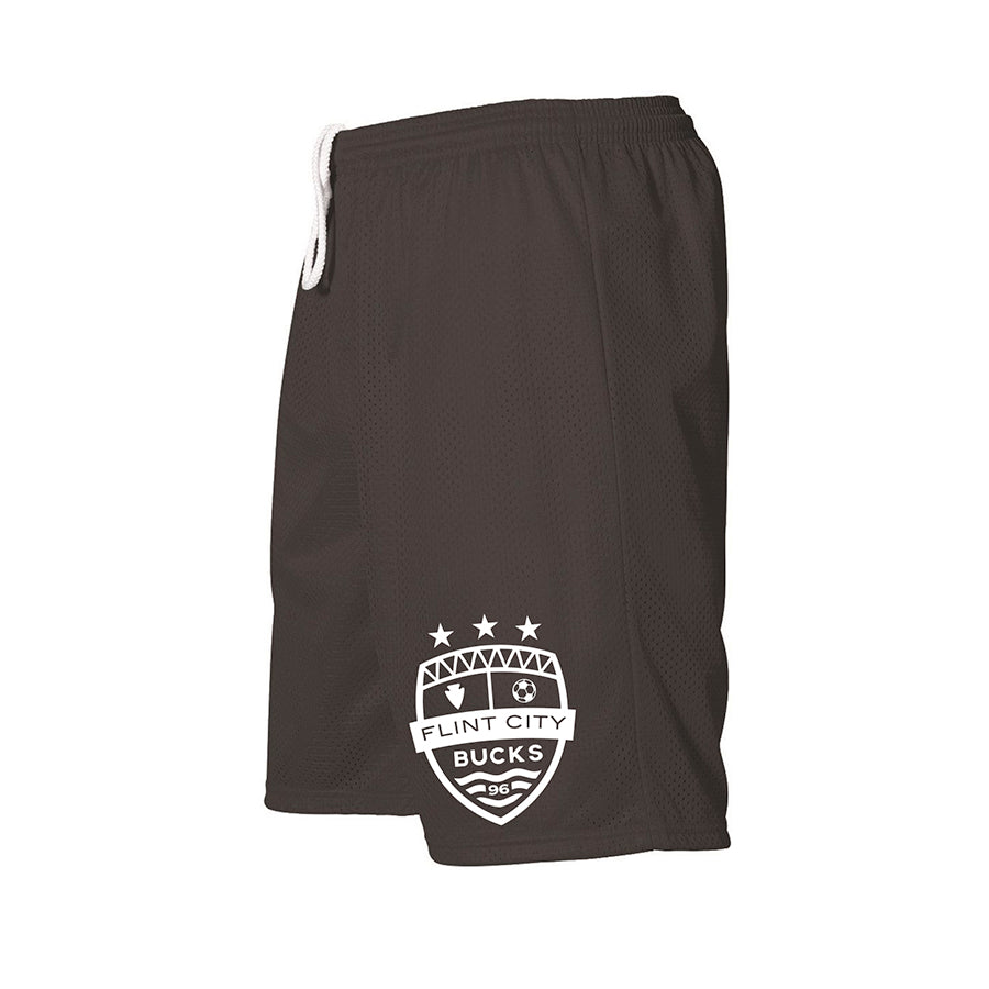 FCB Small Crest Adult Black Mesh Shorts