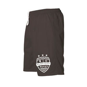 FCB Small Crest Youth Black Mesh Shorts