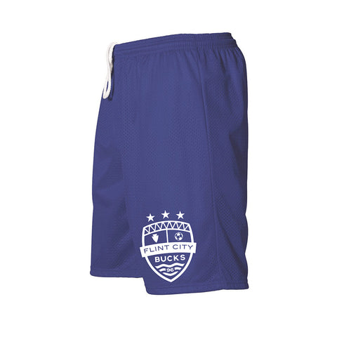 FCB Small Crest Adult Royal Mesh Shorts