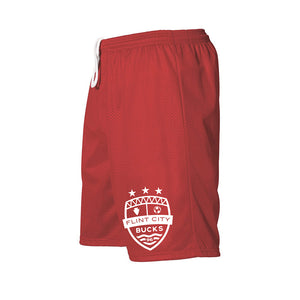 FCB Small Crest Youth Scarlet Mesh Shorts