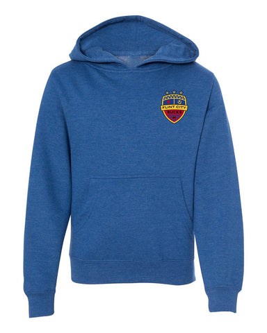 FCB Heather Royal YOUTH Full Color Crest Pullover