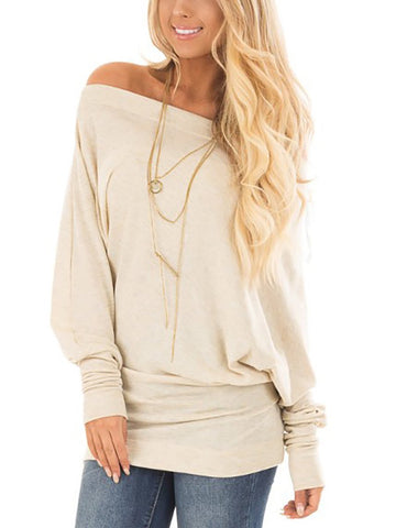 One Shoulder  Backless Cutout Lightweight Patchwork  Plain Long Sleeve T-Shirts