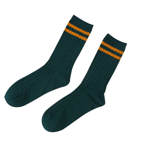 Medium And Long Two Bar College Wind Tube Pile Socks