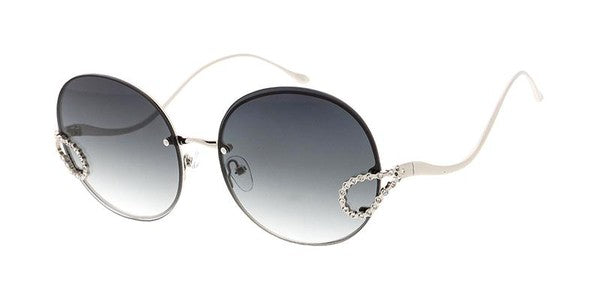 Circle Rimless Sunglasses