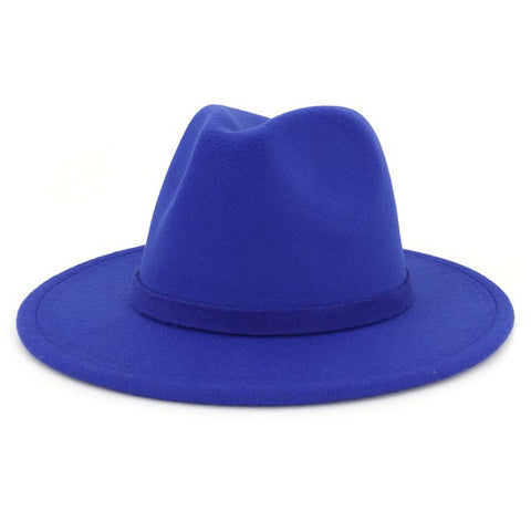 Wide Brim Solid Colored Panama Hats