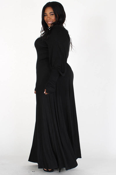 Long Cuff Sleeve Maxi Dress