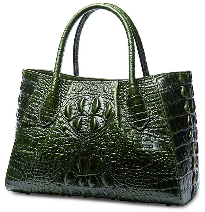 Eva Crocodile Pattern Handle Tote Bag