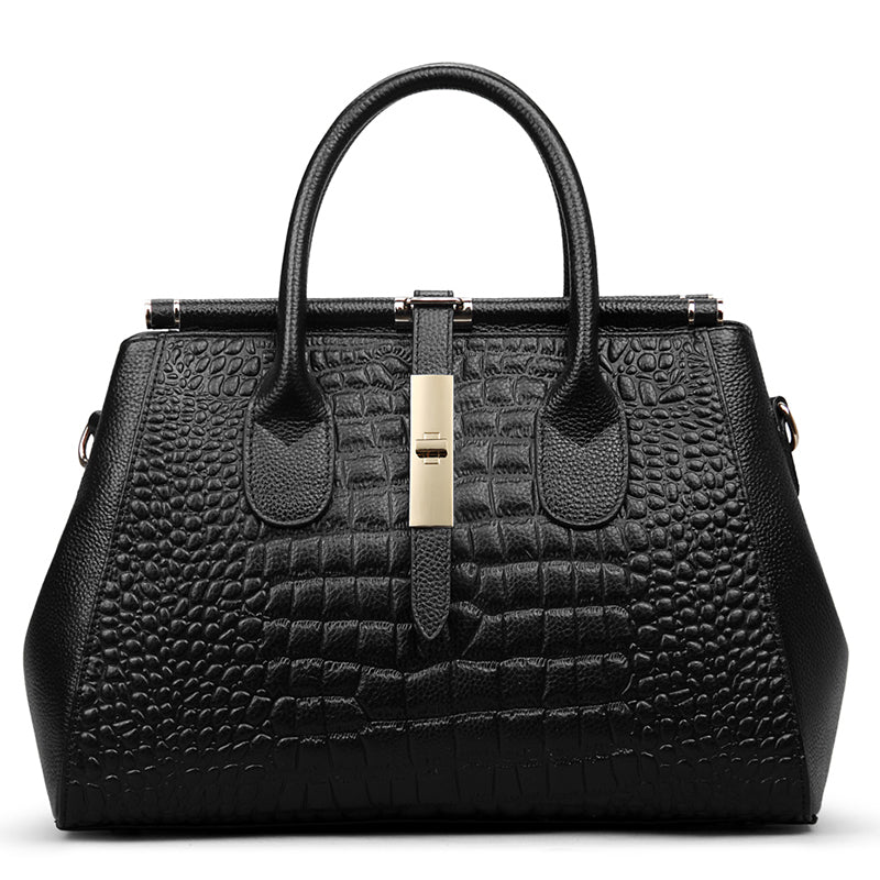 Crocodile Pattern Boston Bag