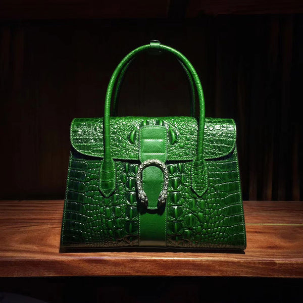 Stanton Crocodile Embossed Satchel
