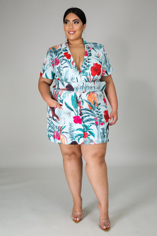 Multi Printed Short Dress