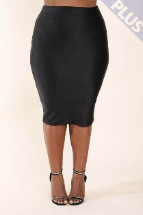 Sleek Shimmering Pencil Skirt