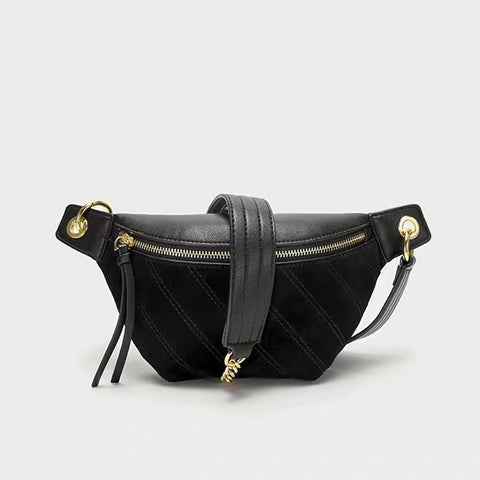 Suede Fanny Pack & Crossbody Bag