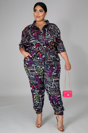 Graffiti Art Jumpsuit